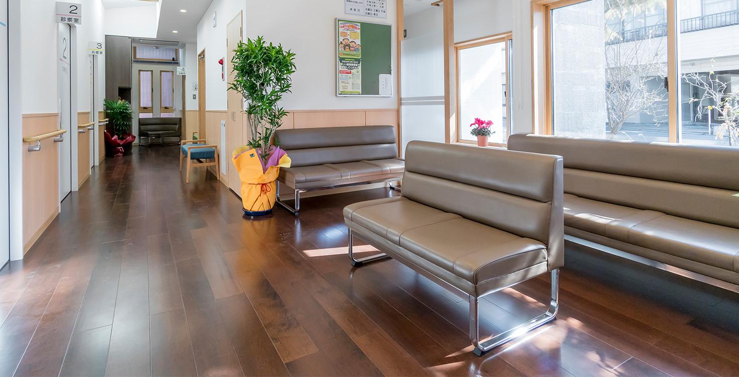 リラックスと癒し空間の待合室